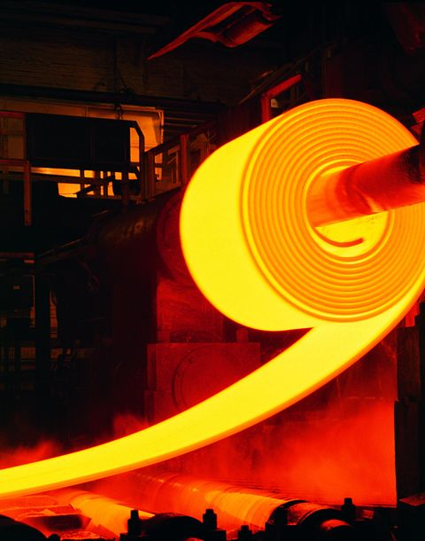 "<p>Steel comes from the mills the same way it has for centuries: molten iron, melted down in a furnace. Alloying elements are added, the result is pressed through rollers, and then it's ready to send to car factories—in the form of giant rolls weighing up to 18 tons each.<span class=""redactor-invisible-space"" data-verified=""redactor"" data-redactor-tag=""span"" data-redactor-class=""redactor-invisible-space""></span></p>"