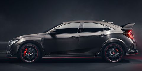 The Honda Weve All Been Waiting For Civic Type R Technically This Car Which Just Debuted At Paris Motor Show Is A Concept But Expect