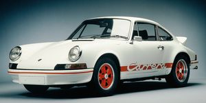 """<p>For the last 30 years, the 911 Carrera has been the most basic 911 you could buy, but in 1973, that word denoted something special. The <a href=""""http://www.roadandtrack.com/car-culture/videos/a28861/seen-through-glass-porsche-911-gt3-carrera-rs/"""" target=""""_blank"""">Carrera RS 2.7</a>&nbsp;was lighter, more powerful, and rarer than other 911s of the era, and are now considered the pinnacle of classic 911s.</p>"""