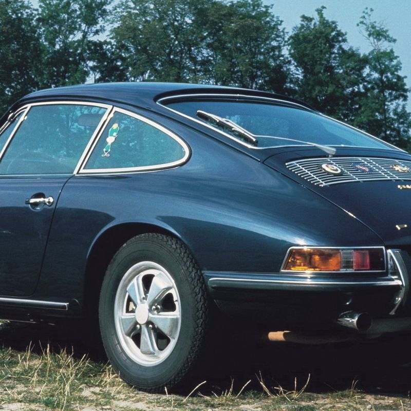 <p>We expect Porsche to build race-inspired 911s now, but that tradition arguably started with the 1967 911 S. While this model wasn't designed for a specific race series, it was much sportier than your average street car of the era. Its 2.0-liter flat-six produced 180-hp with a crazy 7200 rpm redline, and it was the first model offered with the iconic Fuchs alloy wheels.&nbsp&#x3B;</p>
