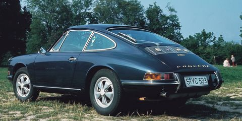 <p>We expect Porsche to build race-inspired 911s now, but that tradition arguably started with the 1967 911 S. While this model wasn't designed for a specific race series, it was much sportier than your average street car of the era. Its 2.0-liter flat-six produced 180-hp with a crazy 7200 rpm redline, and it was the first model offered with the iconic Fuchs alloy wheels.&nbsp;</p>