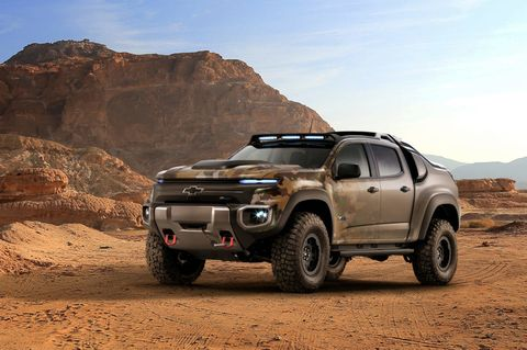 Chevrolet Built a Hydrogen-Powered Colorado for the Army