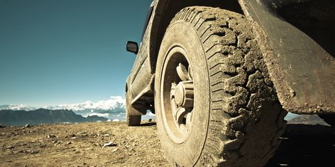 <p>If you're planning to venture off the tarmac, the first (and easiest) upgrade to make is a purpose-built set of tires with a deep tread to keep your grip on mud, snow, sand or ice.</p>