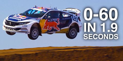 How Global Rallycross Cars Can Accelerate Faster Than Gravity