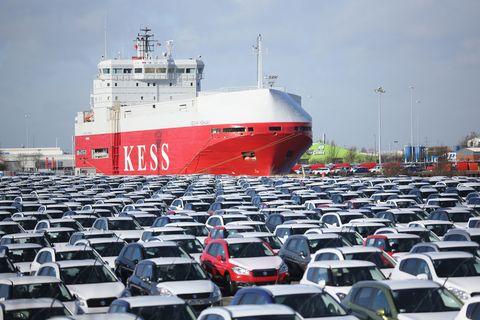 New cars at port
