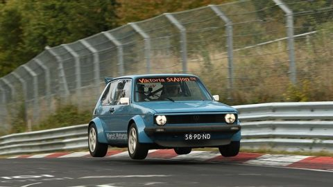 Golf track car nurburgring