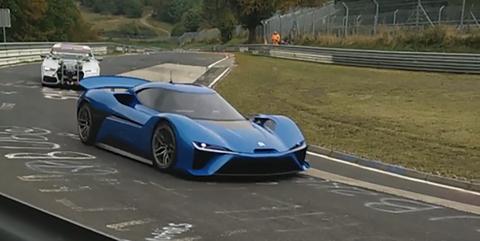NextEV's 1360-hp Electric Supercar Caught Testing at the Nurburgring