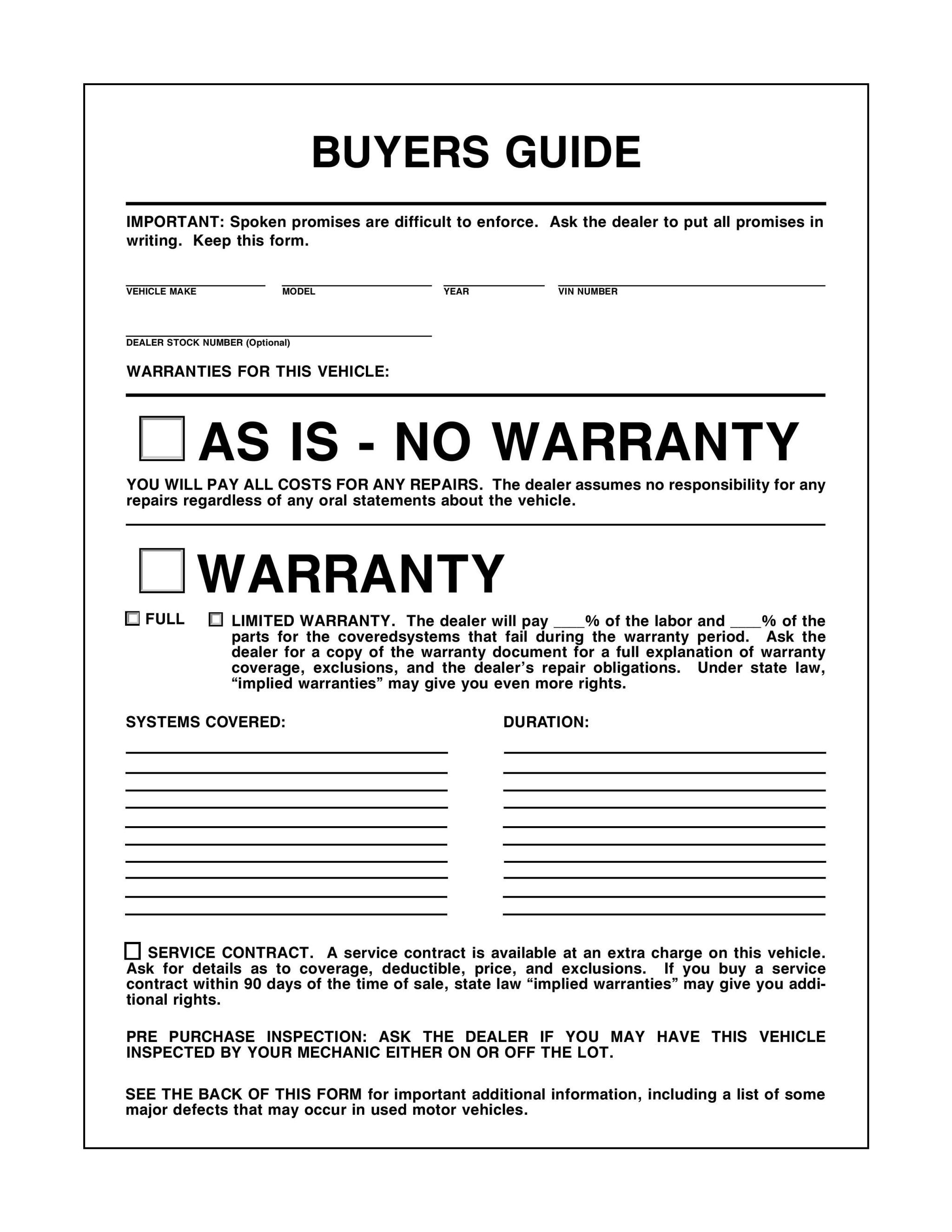 the one document you can t ignore when shopping for a used car rh roadandtrack com Used Car Dealer Window Stickers Vehicle Sales Information Form