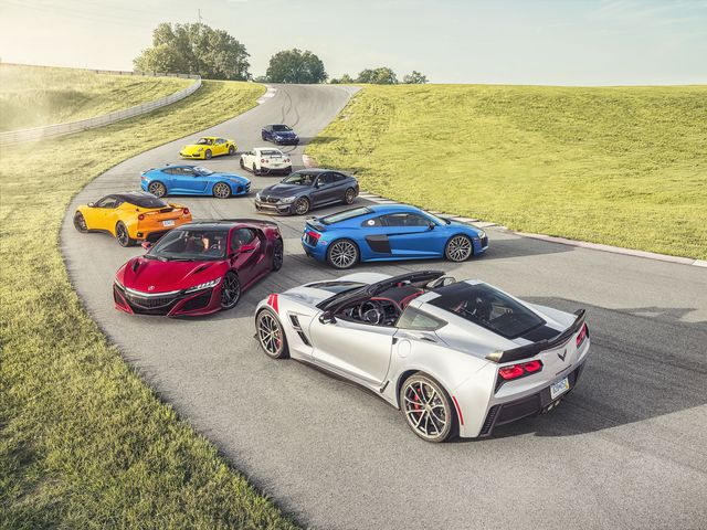 Acura Sports Car >> 2017 Best Performance Car Of The Year 2017 Acura Nsx Named Road