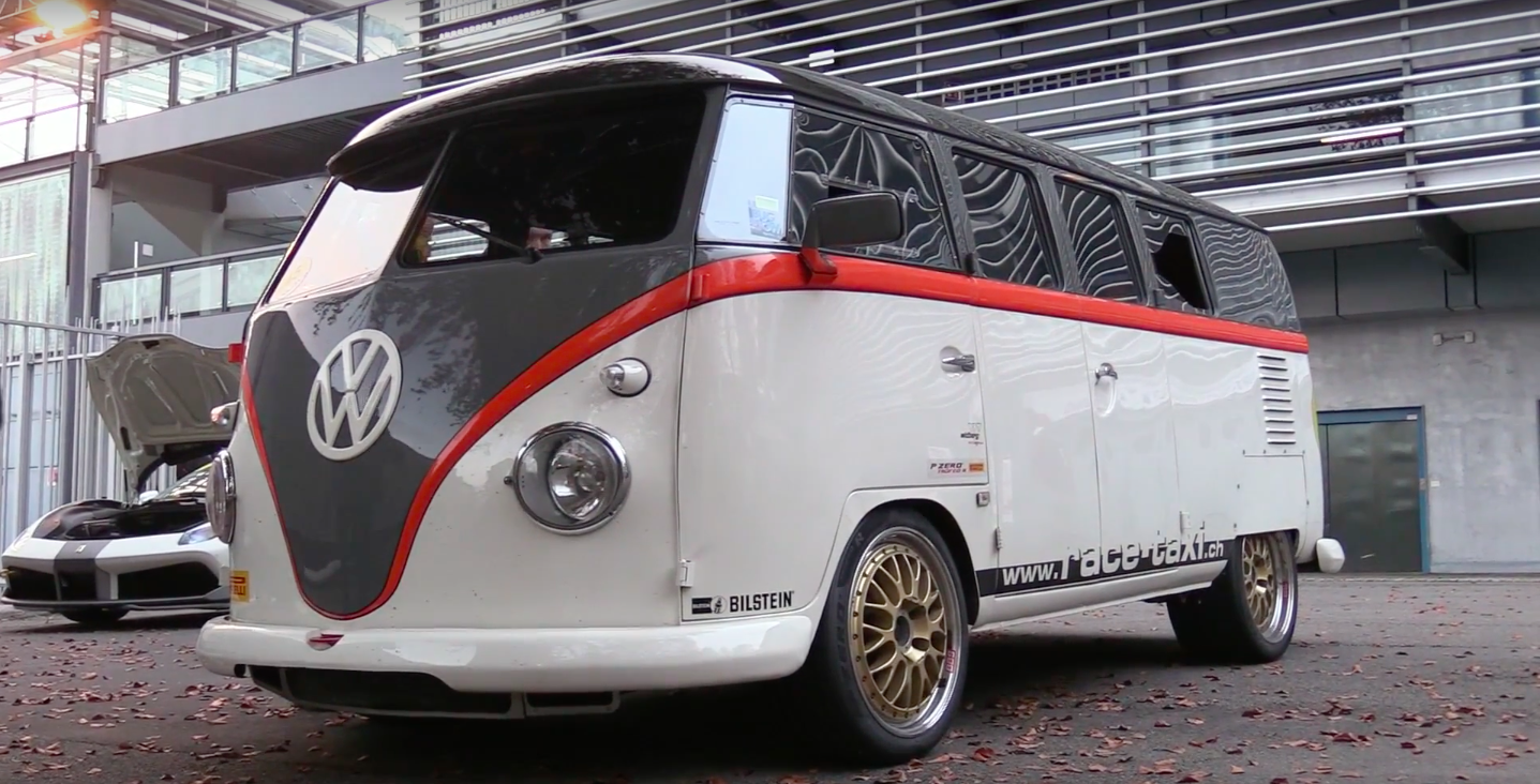 Watch This 993 Turbo Powered Volkswagen Bus Hang With Supercars