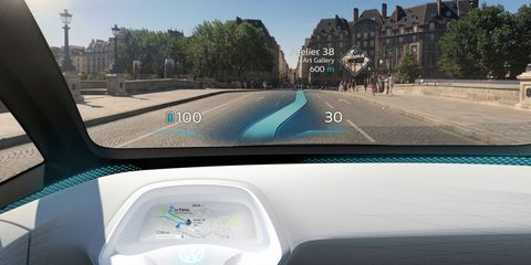 VW's Future Electric Car Will Have an Augmented Reality Navigation System