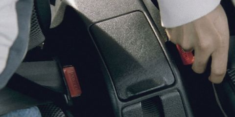 <p>In 1968, the U.S. government formally recognized what some privateer drivers, auto manufacturers, and the state of New York had supposed: You'll stay safer inside the car if you wear a seatbelt. Front lap belts became mandatory by law. It wouldn't be until five years later that the government would mandate three-point belts up front, and six years later that the Feds tried to enforce seatbelt use with an unfortunate engine cutoff switch.</p>  <p>While seatbelts were standard equipment as of the late 1960s, they weren't required for use until 1984 in the United States. The first state to enforce compulsory seatbelt use was New York, and most states soon followed suit with their own versions of the law. Today, the only state without seatbelt regulations is New Hampshire.</p>