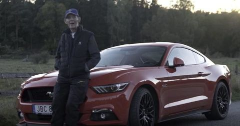 97 year old mustang owner
