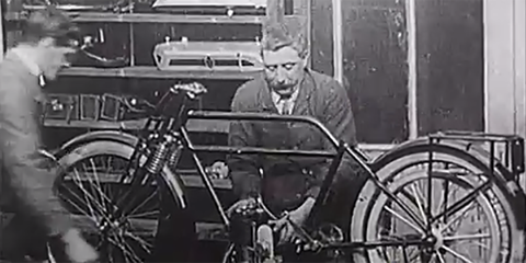 This Silent Film Shows How Motorcycles Were Built Before the Assembly Line