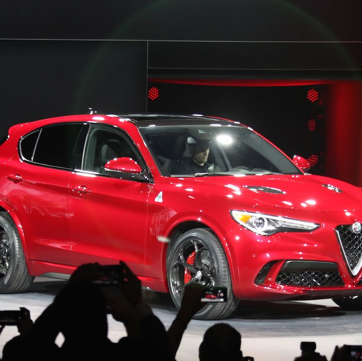 """<p>The Alfa Romeo Stelvio SUV was one of the <a href=""""http://www.roadandtrack.com/new-cars/future-cars/news/a30791/alfa-romeo-stelvio-suv-spotted/"""" target=""""_blank"""" data-tracking-id=""""recirc-text-link"""">worst kept secrets of the LA Auto Show</a>, but that didn't make its reveal any less exciting. Alfa promises the 510-hp Quadrifoglio version will be the <a href=""""http://www.roadandtrack.com/car-shows/los-angeles-auto-show/news/a31592/alfa-says-the-stelvio-will-be-the-fastest-suv-at-the-nurburgring/"""" target=""""_blank"""" data-tracking-id=""""recirc-text-link"""">fastest SUV at the Nurburgring</a>, and it's easily one of the prettiest. </p>"""