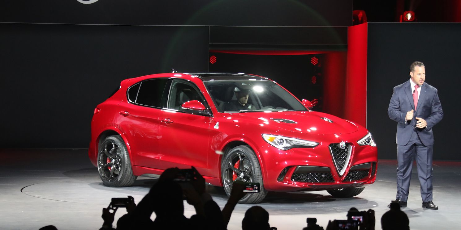 "<p>The Alfa Romeo Stelvio SUV was one of the <a href=""http://www.roadandtrack.com/new-cars/future-cars/news/a30791/alfa-romeo-stelvio-suv-spotted/"" target=""_blank"" data-tracking-id=""recirc-text-link"">worst kept secrets of the LA Auto Show</a>, but that didn't make its reveal any less exciting. Alfa promises the 510-hp Quadrifoglio version will be the <a href=""http://www.roadandtrack.com/car-shows/los-angeles-auto-show/news/a31592/alfa-says-the-stelvio-will-be-the-fastest-suv-at-the-nurburgring/"" target=""_blank"" data-tracking-id=""recirc-text-link"">fastest SUV at the Nurburgring</a>, and it's easily one of the prettiest. </p>"