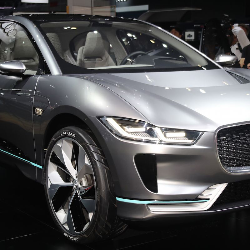 """<p>Jaguar's <a href=""""http://www.roadandtrack.com/car-shows/los-angeles-auto-show/news/a31557/the-i-pace-is-jaguars-all-electric-vision-of-the-future/"""" target=""""_blank"""" data-tracking-id=""""recirc-text-link"""">all-electric answer to the Tesla Model X</a> is unsurprisingly gorgeous and promises to be genuinely great to drive. Equipped with a 90-kWh battery pack, and motors at the front and rear axles, the I-Pace will hit 60 mph in 4 seconds and has a 220-mile range. It's a concept for now, but we'll see it in production by 2018.</p>"""