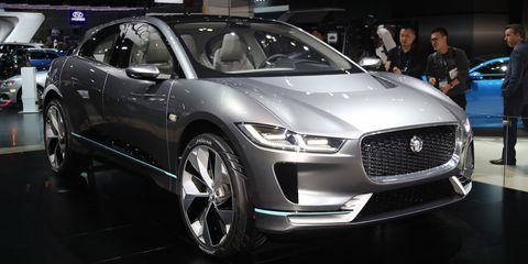 "<p>Jaguar's <a href=""http://www.roadandtrack.com/car-shows/los-angeles-auto-show/news/a31557/the-i-pace-is-jaguars-all-electric-vision-of-the-future/"" target=""_blank"" data-tracking-id=""recirc-text-link"">all-electric answer to the Tesla Model X</a> is unsurprisingly gorgeous and promises to be genuinely great to drive. Equipped with a 90-kWh battery pack, and motors at the front and rear axles, the I-Pace will hit 60 mph in 4 seconds and has a 220-mile range. It's a concept for now, but we'll see it in production by 2018.</p>"