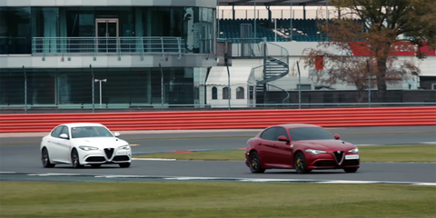 """Watch This Alfa Romeo Giulia Driver Set a Lap Record While """"Blindfolded"""""""
