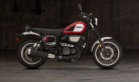 "<p><strong data-redactor-tag=""strong"" data-verified=""redactor"">Base Price:</strong> $8,700</p>  <p></p>  <p>It's no secret we have a weakness for Retro-styled bikes. And the new Yamaha SCR 950 hits all the right notes. Just check out the sweet vintage lace wheels and old school number plates. The SCR looks like something that would roll right out of Steve McQueen's garage in the 1970s. The new on-off road scrambler-style machine is based on the bones of the Yamaha Bolt cruiser, including its 942cc air-cooled Twin. But the transformation to SCR was accomplished by adding a taller suspension and handlebars for a comfier riding position.</p>  <p></p>  <p>Of course with relatively modest underpinnings, the SCR won't keep up with the more focused bikes dedicated to dirt sports or backroad hustling. But with an easy-riding personality, classic style, and an estimated 51 mpg, the SCR is a bike that looks like a weekend toy but makes for an excellent daily rider. </p>"