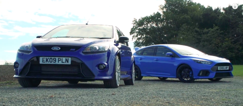 Watch The New Ford Focus Rs Face Off Against The Old Focus Rs