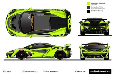 McLaren 570S GT4 Volt Racing