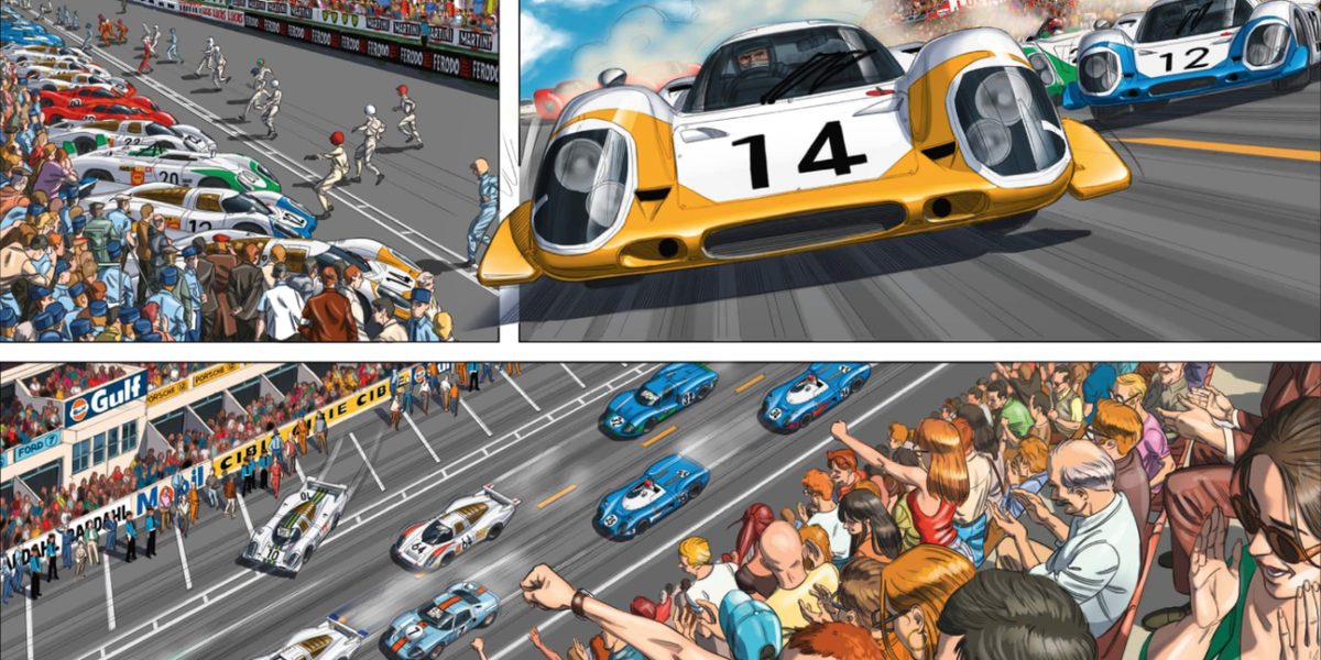 Steve Mcqueen S Quot Le Mans Quot Retold As A Stunning Graphic Novel