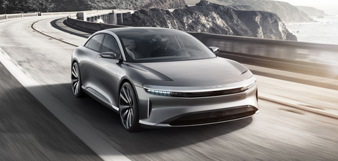 electric car motor horsepower 2500 hp lucid motors air electric car starts at 52500 gets 400 hp and 240 miles