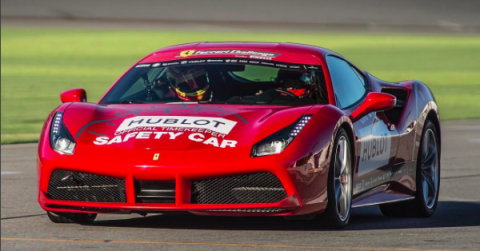 hennessey and kimi in a 488 ferrari
