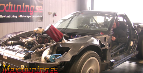 Someone Put a Turbo Four-Cylinder Engine into a C6 Corvette Race Car