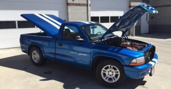 Someone Dropped a Viper V10 Into this Innocent Dodge Dakota