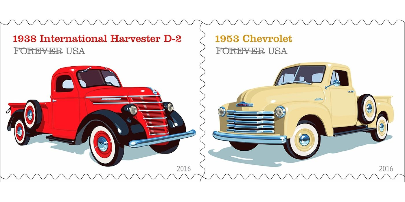 Vintage Truck Stamps are the Coolest Way To Send Mail