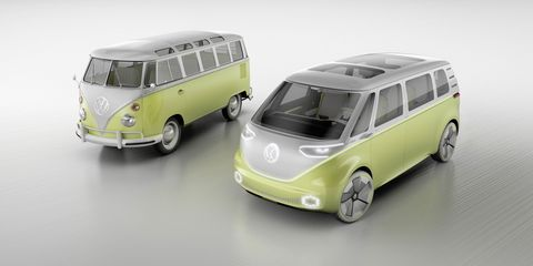 """<p>VW is once again&nbsp;<a href=""""http://www.roadandtrack.com/car-shows/detroit-auto-show/news/a32195/vw-id-buzz-concept"""" data-tracking-id=""""recirc-text-link"""">teasing us with a revival of the iconic bus</a>, except this one is electric and autonomous. Of course, if there was one style of vehicle that should be autonomous, this is it.</p>"""