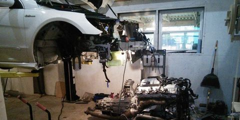 Engine Rebuild Cost >> Mercedes R63 Amg Owner Completes Diy Engine Rebuild Dealer