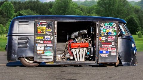 This Big-Block Chevy V8-Powered VW Bus Is a Nitrous ...