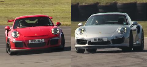 Porsche 911 Turbo S Vs 911 Gt3 Rs On Track Theyre