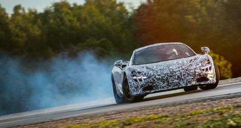 McLaren Super Series 720S camo testing drift