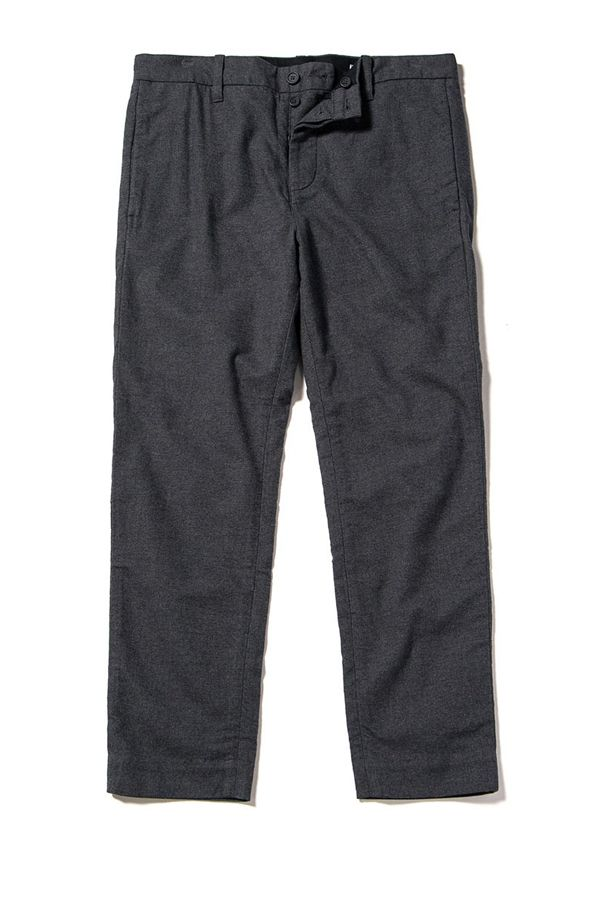 """<p>          A simple pair of charcoal cotton trousers will work almost anywhere and coordinate with just about anything in your closet. And the fact that these are made of recycled cotton means you aren't hurting the planet, which might help you sleep better at night. <i data-redactor-tag=""""i"""">Shop similar at&nbsp&#x3B;</i><a href=""""http://www.outerknown.com/mens/pants""""><i data-redactor-tag=""""i"""" data-tracking-id=""""recirc-text-link"""">outerknown.com</i></a><i data-redactor-tag=""""i""""><u data-redactor-tag=""""u""""></u></i>  <span class=""""redactor-invisible-space"""" data-verified=""""redactor"""" data-redactor-tag=""""span"""" data-redactor-class=""""redactor-invisible-space""""></span></p>"""