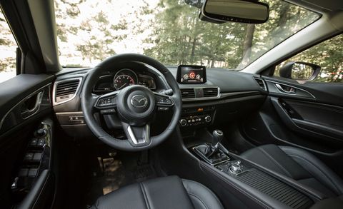 Inside the Mazda3 hatchback