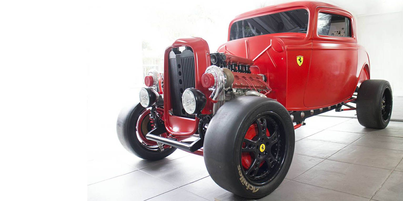 This Unfinished Ferrari-Powered Hot Rod Is a 950-HP Deathwish