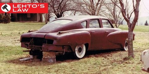 Enterprise Cars For Sale >> A $3 Million Tucker 48 Prototype Was Discovered Stuck in Mud Behind a Barn