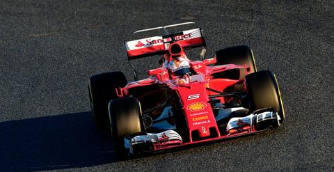 Sebastien Vettel Ferrari F1 2017 barcelona