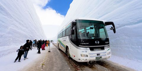 Land vehicle, Vehicle, Mode of transport, Transport, Tour bus service, Bus, Motor vehicle, Public transport, Car, Commercial vehicle,