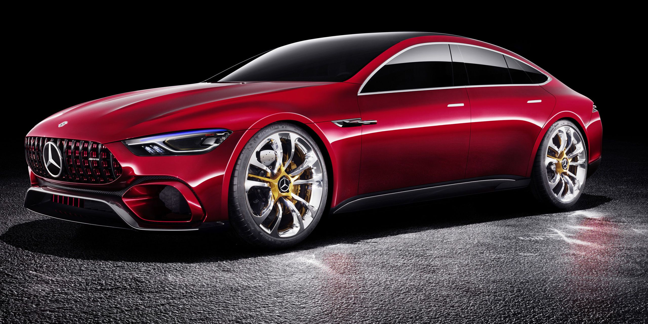 Have you ever looked at the muscular striking lines of the Mercedes-AMG GT coupe and wished for two more doors? Neither have we but thatu0027s exactly what ... & Mercedes-AMG GT Concept Brings Four Doors and 805 Hybrid Horsepower