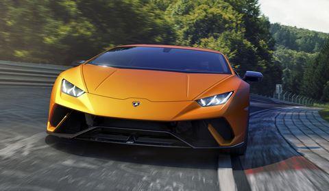Land vehicle, Vehicle, Car, Supercar, Sports car, Automotive design, Lamborghini, Yellow, Performance car, Lamborghini huracán,