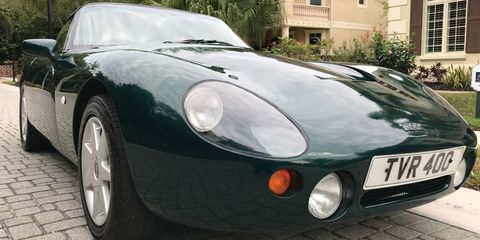 Land vehicle, Vehicle, Car, Sports car, Coupé, Classic car, Tvr, Sedan, Race car, Tvr,