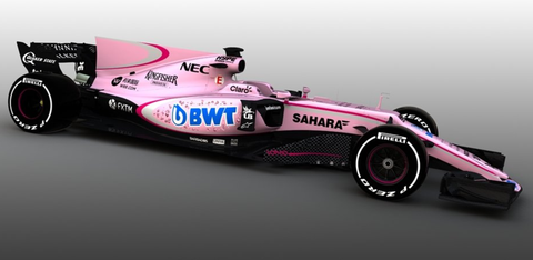 Force India F1 livery 2017 pink