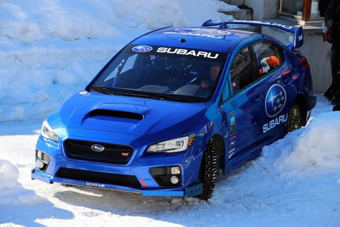 <p>Here it is, in all it's glory. Subaru's stock-looking 2015 Isle of Man TT record car, upgraded for some inevitable crashes&nbsp;at a bobsled&nbsp;run in 2017.</p>