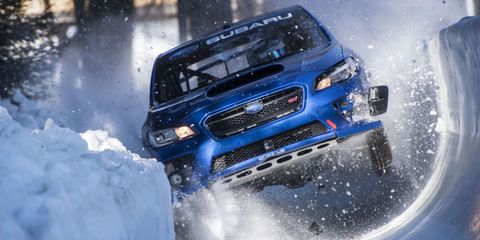 Land vehicle, Vehicle, Car, Snow, Automotive exterior, Automotive design, Bumper, Grille, Automotive fog light, Ice racing,
