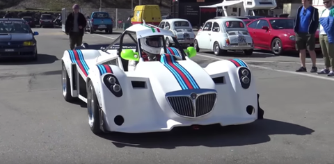 Lancia track car with Delta S4 Engine